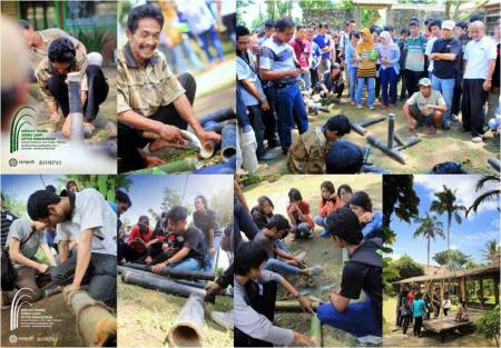 Suasana Workshop Merajut Bambu Seribu Candi 2012