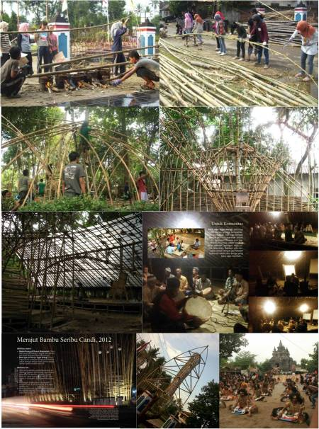 Suasana Saat Proses Konstruksi & Acara Merajut Bambu Seribu Candi 2012